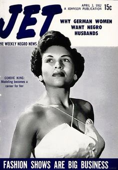 Fashion Shows Are Big Business for Models Like Cordie King - Jet Magazine, April 3, 1952 on Flickr.  love, Love, LOVE Cordie King. #QuintessentialVintageBlackGlamour