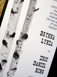 White Birch Inspiration {Invite Insp.}