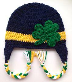 NOTRE DAME Crochet Shamrock Hat - All sizes on Etsy cd5530198fd3