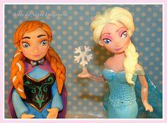 BOLOS DO NOSSO IMAGINÁRIO: Bolo Decorado de Aniversário Frozen Rainha Elsa e Princesa Ana Queen Elsa and  Princess Anna  #Princesa #Ana #Princess #Anna #Frozen #Queen #Rainha #Elsa