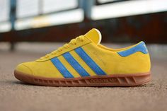 Adidas Hamburg Trainers Yellow