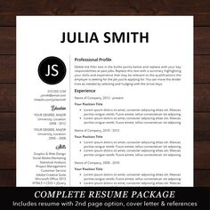 resume microsoft word
