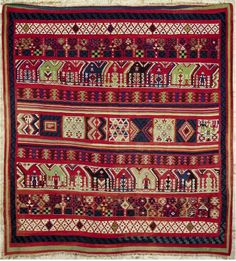 "Africa | ""Gafsa"" textile from Tunisia 