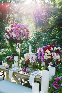 Beautiful colors and table decor inspired by Tangled.