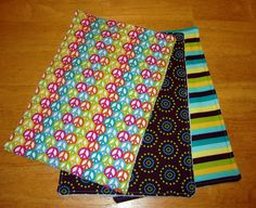 Peace Sign Baby Burp Cloth Set of 3 Groovy by Amandamaetucker, $10.00
