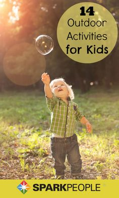 14 Ways to Encourage Kids to Play Outdoors. Yes! Need this for already for summer! | via @SparkPeople