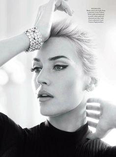 "Actress. Hollywood.  ""Kate Rock n' Roll""     Harper's Bazaar UK, April 2013     Model : Kate Winslet"