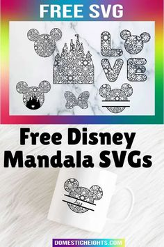 Circut disney inspired craft ideas, free mouse ears SVG templates Handmade Crafts, Diy And Crafts, Crafts For Kids, How To Make Photo, Starbucks Mugs, Mandala Coloring, Mouse Ears, Disney Inspired, Vinyl Decals