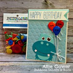 Create a Birthday Card on my Silhouette Cameo using the Archiver's Birthday Button Assortment. #ScrapFest2013 #buttonsgalore