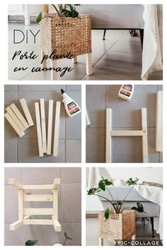 Diy Wood Projects, Home Projects, Home Crafts, Diy Crafts With Wood, Decor Crafts, Woodworking Projects, Diy Holz, Diy Décoration, Diy Planters
