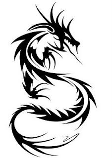 tribal dragon tattoo design for Men