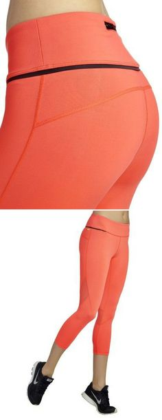Coral Cropped Leggings #fashion #workout #lounge #coral