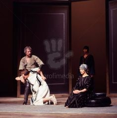 "Alan (in white) in ""Antony and Cleopatra"" as Thidias and Alexas Royal Shakespeare Company, Stratford 1978"