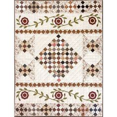 beautiful combination of simple piecing and applique