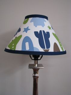 Rocket Lamp shade babys room boys room space nursery