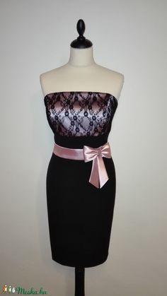 Csipkés alkalmi ruha (nicoledesign) - Meska.hu Strapless Dress, Women's Fashion, Formal Dresses, Strapless Gown, Dresses For Formal, Fashion Women, Formal Gowns, Womens Fashion