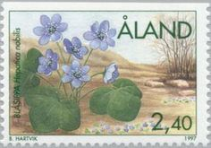 ◇Aland 1997 Kidneywort (Anemone hepatica)