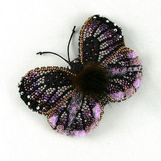Bead embroidered butterfly. My etsy shop- www.etsy.com/shop/Eniya