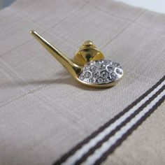 Jewel Tie 925 Sterling Silver Gold-Toned Kentucky Derby Cuff Link