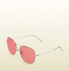 Gucci techno color ultra-light rounded square sunglasses pink