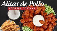 Alitas de pollo Bufalo, Buffalo wings, Hooters copycat, alitas bufalo. recetas faciles.