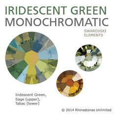 Swarovski Iridescent Green monochromatic color theme