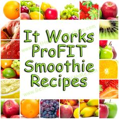 It Works ProFIT Smoothie Recipes - follow my board and enjoy the #recipes #itworks #smoothie nicolej1.myitworks.com
