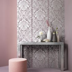Graham & Brown Gloriana Wallpaper, Mulberry