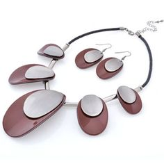 Acryl Fashion Jewelry Sets, two color: Brown and Black
