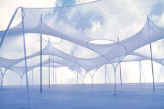 Frei Otto, Studio formale per le strutture di sostegno alle mebrane tessili.