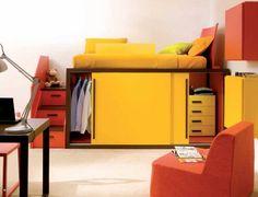 Love the space saving wardrobe!