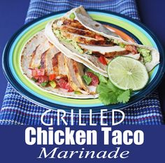 Grilled Chicken Taco Marinade from Jamie Cooks It Up!