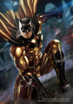 Batman in gold suit, i don't think he can do ninja thing in shiny golden costume like that You can find information about the game here: www.facebook.com/batmanandthef…