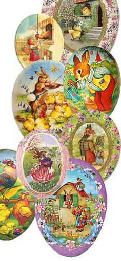 Lots and lots of papier mache Easter eggs from Germany