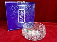 """6) Fine Edinburgh """"Iona"""" crystal glass bowl BNIB Est. £25-£35"""
