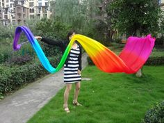 Size of the fabric, 3.7m*56cm    Stick: 40cm bamboo stick wrapped by silk.