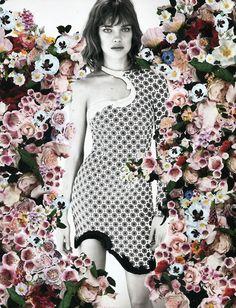 montage photography print art floral model portrait fashion photoshop