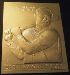 1933 BABE RUTH GOUDEY #53 Big League Chewing Gum 23K GOLD CARD
