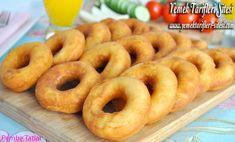Yağ Çekmeyen Mayalı Pişi Tarifi Onion Rings, Doughnut, Brunch, Food And Drink, Ethnic Recipes, Desserts, Essen, Cinnamon, Postres