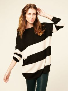 Cozy sweaters and stripes (of course)