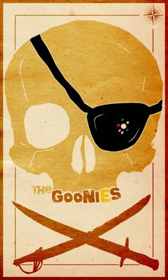 """The Goonies"" minimal movie poster by Travis English. One of the best movies of all time. Minimal Movie Posters, Cool Posters, Love Movie, I Movie, Cinema Tv, Alternative Movie Posters, Great Movies, 90s Movies, Comedy Movies"