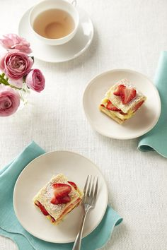 Perfect Easter Dessert: Coconut-Strawberry Napoleons   from familycircle.com #desserts