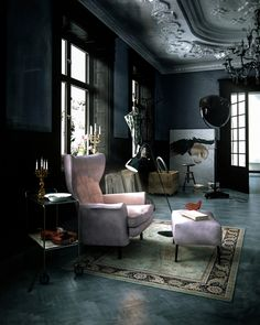 Apartment of Artist by Denis Melnik, via Behance