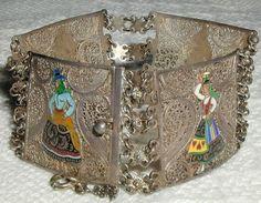 Topazio of Portugal Sterling Silver Filigree Bracelet with ...