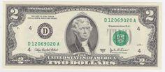 Estados Unidos 2003 Cédula de 2 dólares americanos, em estado Flor de Estampa, retratando Thomas Jef