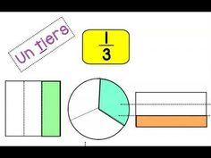 Capsule sur les fractions (un demi, un tiers, un quart) Fractions, Maths, Letters, Youtube, Drawing Tips, Index Cards, Exercises, Letter, Lettering