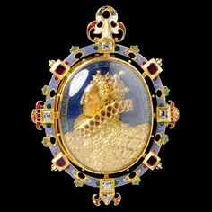 The Heneage Jewel  England, about 1595  Gold with enamel, rock crystal, table-cut diamonds and Burmese rubies