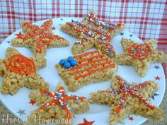 Rice Krispie Treats for the 4th of July