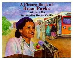 """Read """"A Picture Book of Rosa Parks"""" by David A. Adler available from Rakuten Kobo.a simple, clear biography of Rosa Parks. This Is A Book, The Book, Rosa Parks Pictures, Rosa Parks Book, Rosa Parks Biography, Civil Rights Movement, Children's Literature, Martin Luther King, Black History Month"""