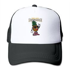 """Adult Party Like A Pineapple The Adjustable Snapback Trucker Hat. 100% Nylon Mesh Back Keeps You Cool. 100% Polyester Foam Front. Hand Washing Only. Adjustable From 17"""" To 24"""". Customized Pattern Design,Perfect As A Gift,High Quality And Environmentally Friendly Printed."""